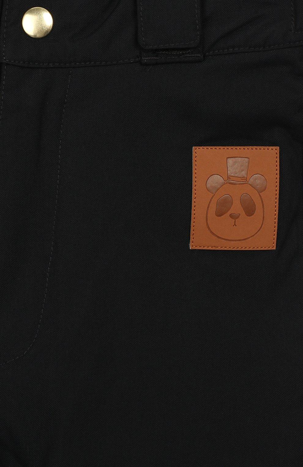 Детский утепленные брюки MINI RODINI черного цвета, арт. 19730101 | Фото 3