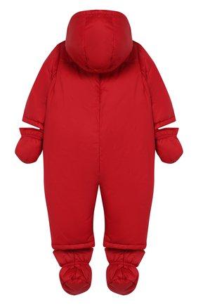 Детский пуховый комбинезон EMPORIO ARMANI красного цвета, арт. 6GHL03/1NUMZ | Фото 2