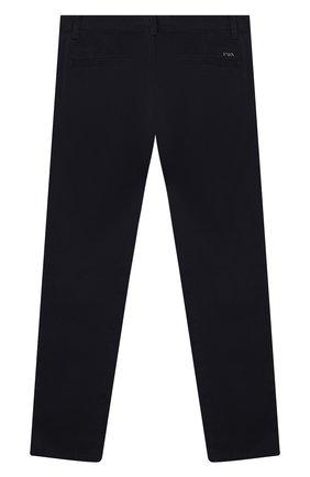 Детские хлопковые брюки EMPORIO ARMANI темно-синего цвета, арт. 6G4P60/1NVEZ | Фото 2