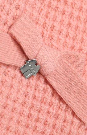 Детский шарф SIMONETTA розового цвета, арт. 1L0213/LE050 | Фото 2