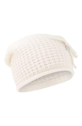 Детского шапка SIMONETTA белого цвета, арт. 1L0227/LD440 | Фото 1