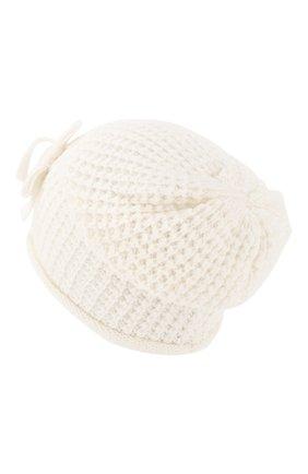 Детского шапка SIMONETTA белого цвета, арт. 1L0227/LD440 | Фото 2