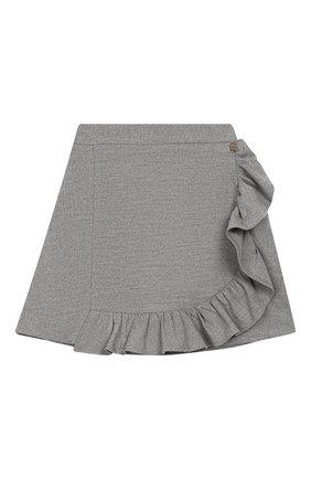 Детская юбка SIMONETTA серого цвета, арт. 1L7040/LE040/10-14+ | Фото 1