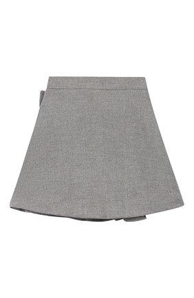 Детская юбка SIMONETTA серого цвета, арт. 1L7040/LE040/10-14+ | Фото 2