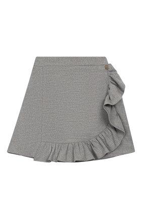 Детская юбка SIMONETTA серого цвета, арт. 1L7040/LE040/5-8 | Фото 1
