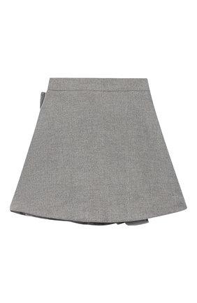 Детская юбка SIMONETTA серого цвета, арт. 1L7040/LE040/5-8 | Фото 2