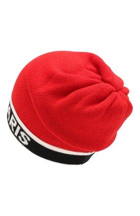 Детского шерстяная шапка BALMAIN красного цвета, арт. 6L0577/LC950 | Фото 2