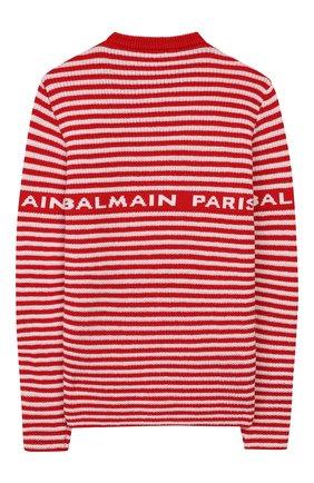 Детский шерстяной пуловер BALMAIN красного цвета, арт. 6L9520/LA910/4-10 | Фото 2