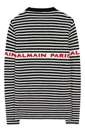 Детский шерстяной пуловер BALMAIN черного цвета, арт. 6L9520/LA910/4-10 | Фото 2
