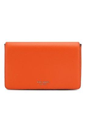 Женские кожаный кошелек sylvia на цепочке KATE SPADE NEW YORK оранжевого цвета, арт. PWRU7201 | Фото 1