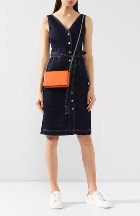 Женские кожаный кошелек sylvia на цепочке KATE SPADE NEW YORK оранжевого цвета, арт. PWRU7201 | Фото 2