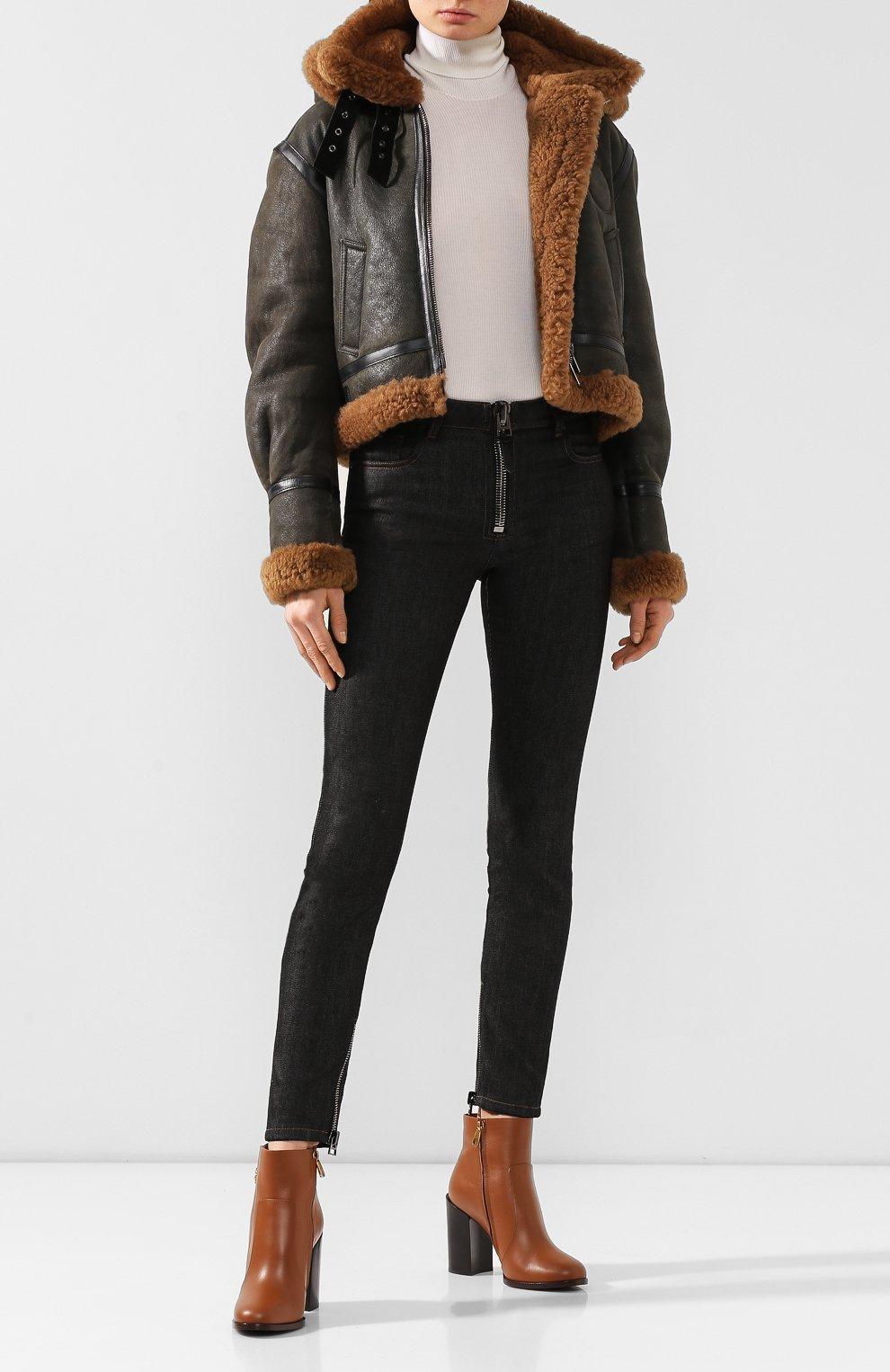 Женские кожаные ботильоны janis DOLCE & GABBANA светло-коричневого цвета, арт. CT0587/A3444 | Фото 2