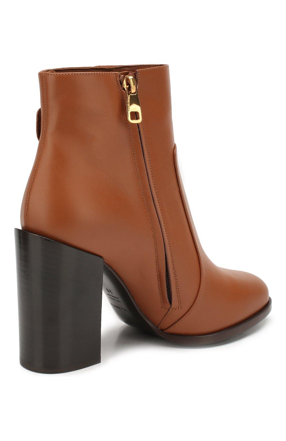 Женские кожаные ботильоны janis DOLCE & GABBANA светло-коричневого цвета, арт. CT0587/A3444 | Фото 4