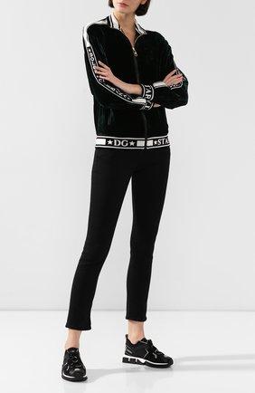 Женские текстильные кроссовки sorrento DOLCE & GABBANA черного цвета, арт. CK1718/AA096 | Фото 2