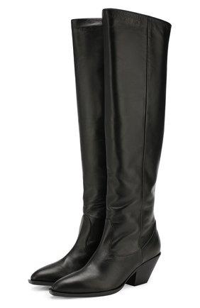 Женские кожаные сапоги GIUSEPPE ZANOTTI DESIGN черного цвета, арт. I980003/002 | Фото 1