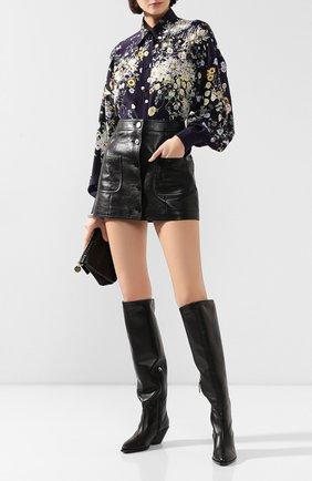 Женские кожаные сапоги GIUSEPPE ZANOTTI DESIGN черного цвета, арт. I980003/002 | Фото 2
