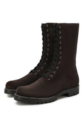 Женские замшевые ботинки RENE CAOVILLA темно-серого цвета, арт. C09641-025-C001V202 | Фото 1