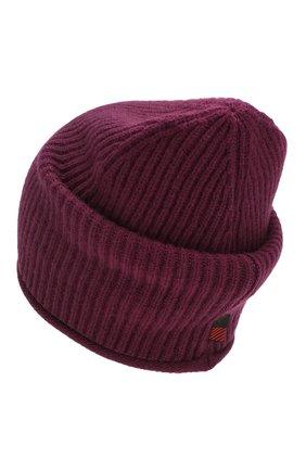 Женский кашемировая шапка WOOLRICH бордового цвета, арт. WWACC1451/UF0391 | Фото 2