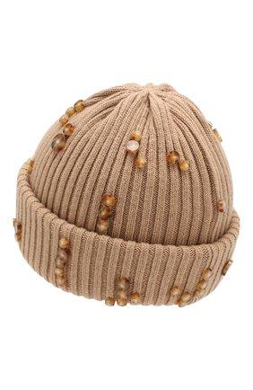 Мужская шерстяная шапка BURBERRY бежевого цвета, арт. 8021585 | Фото 2