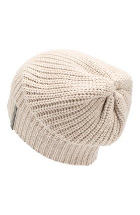 Женская кашемировая шапка BRUNELLO CUCINELLI бежевого цвета, арт. M52503399   Фото 2 (Материал: Кашемир, Шерсть; Статус проверки: Проверено)
