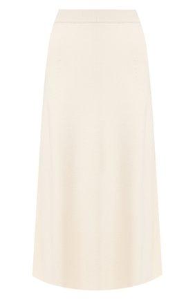 Женская кашемировая юбка LORO PIANA белого цвета, арт. FAI8078   Фото 1