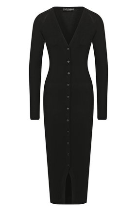 Женский кардиган из смеси кашемира и шелка DOLCE & GABBANA черного цвета, арт. FX555T/JAMD7 | Фото 1