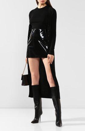 Женский кардиган из смеси кашемира и шелка DOLCE & GABBANA черного цвета, арт. FX555T/JAMD7 | Фото 2