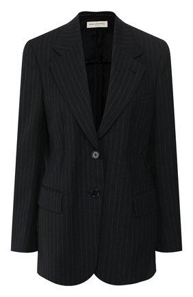 Женский жакет в полоску DRIES VAN NOTEN темно-синего цвета, арт. 192-10406-8036 | Фото 1