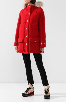 Женская шерстяная куртка tundra WOOLRICH красного цвета, арт. WWCPS2818/UT1734 | Фото 2