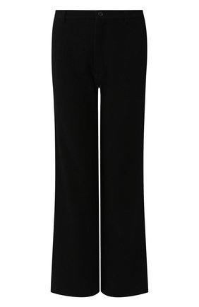 Женские шерстяные брюки YOHJI YAMAMOTO черного цвета, арт. FC-P01-104   Фото 1