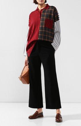 Женские шерстяные брюки YOHJI YAMAMOTO черного цвета, арт. FC-P01-104   Фото 2