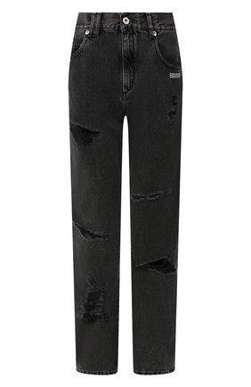 Женские джинсы с потертостями OFF-WHITE темно-серого цвета, арт. 0WYA012F197740647540 | Фото 1