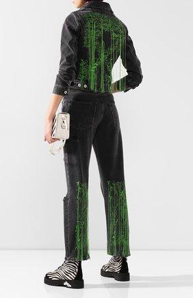 Женские джинсы с потертостями OFF-WHITE темно-серого цвета, арт. 0WYA012F197740647540 | Фото 2
