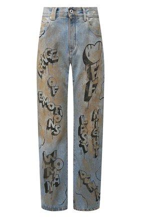 Женские джинсы OFF-WHITE голубого цвета, арт. 0WYA012F197730627110 | Фото 1