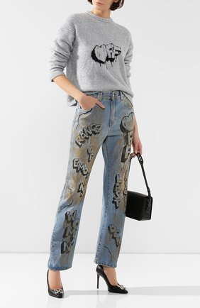 Женские джинсы OFF-WHITE голубого цвета, арт. 0WYA012F197730627110 | Фото 2