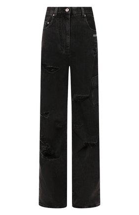 Женские джинсы свободного кроя OFF-WHITE темно-серого цвета, арт. 0WYA011F197740647540 | Фото 1