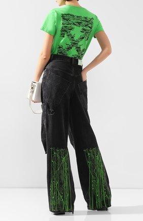 Женские джинсы свободного кроя OFF-WHITE темно-серого цвета, арт. 0WYA011F197740647540 | Фото 2