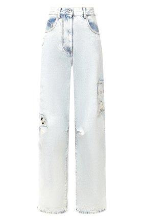 Женские джинсы свободного кроя OFF-WHITE голубого цвета, арт. 0WYA011F197730647101 | Фото 1