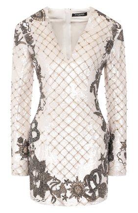 Женское платье BALMAIN белого цвета, арт. SF06852/P025   Фото 1