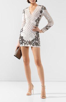 Женское платье BALMAIN белого цвета, арт. SF06852/P025   Фото 2