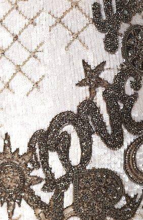 Женское платье BALMAIN белого цвета, арт. SF06852/P025   Фото 5