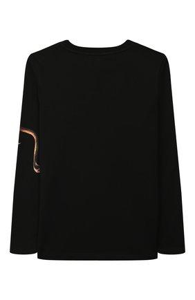 Детская хлопковый лонгслив GIVENCHY черного цвета, арт. H25141 | Фото 2