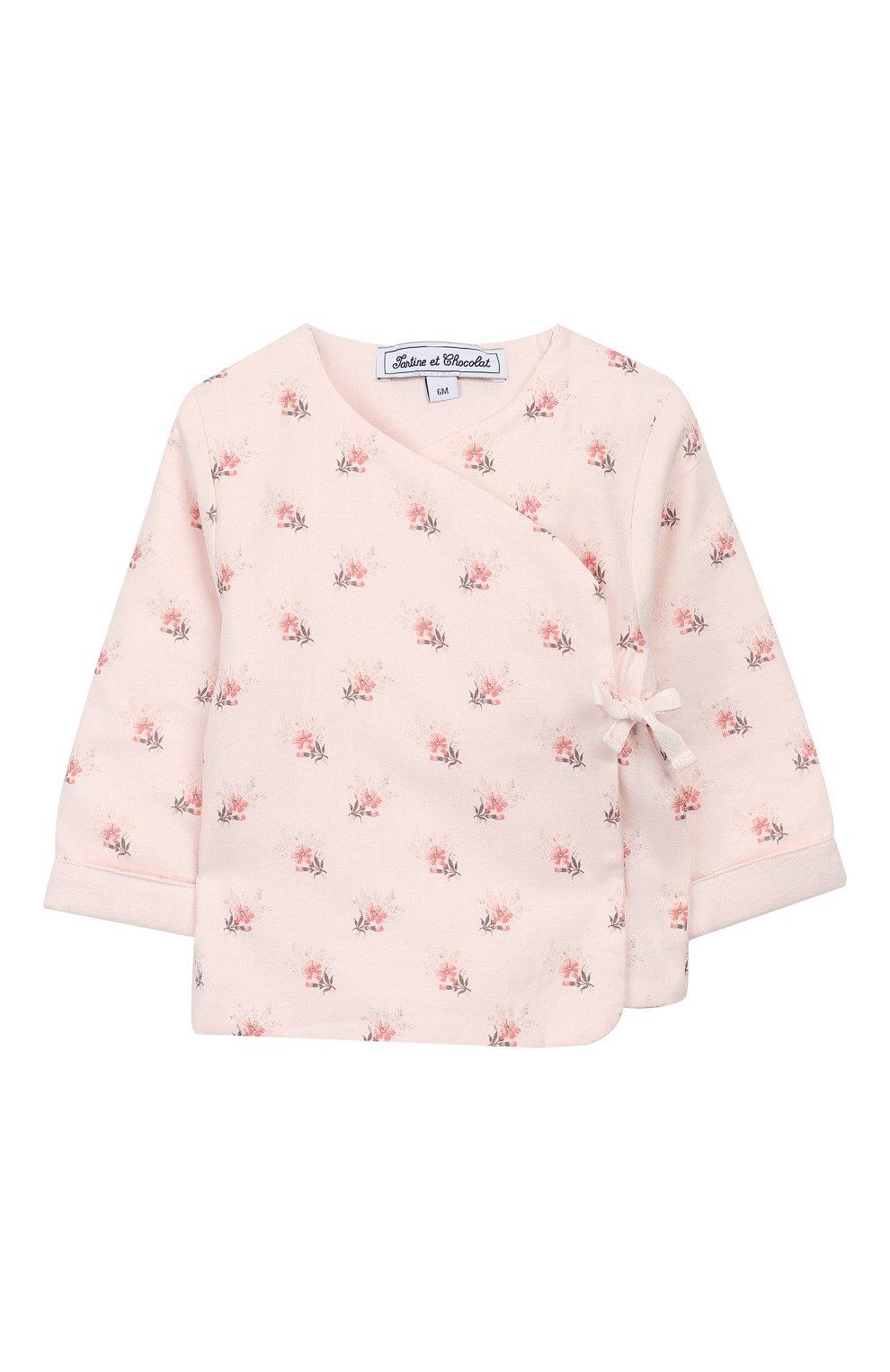 Детский хлопковый кардиган TARTINE ET CHOCOLAT светло-розового цвета, арт. TP40001/1M-1A | Фото 1