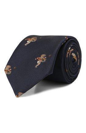Детский шелковый галстук POLO RALPH LAUREN темно-синего цвета, арт. 352758547 | Фото 1