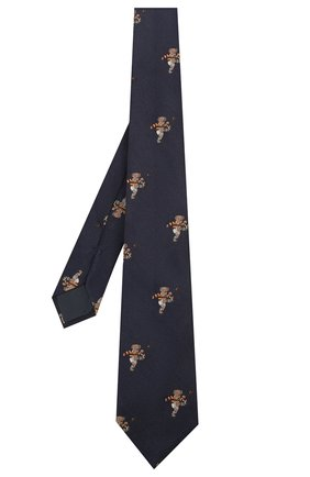 Детский шелковый галстук POLO RALPH LAUREN темно-синего цвета, арт. 352758547 | Фото 2