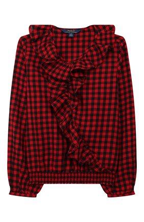 Детское хлопковая блузка POLO RALPH LAUREN разноцветного цвета, арт. 313760373 | Фото 1