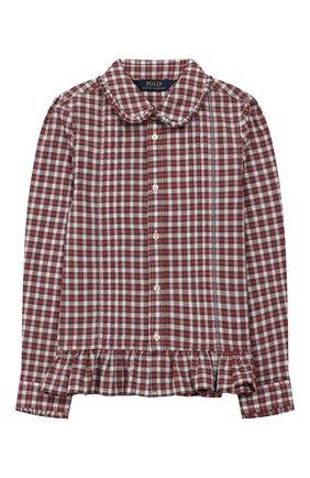 Детское хлопковая блузка POLO RALPH LAUREN разноцветного цвета, арт. 312760370 | Фото 1