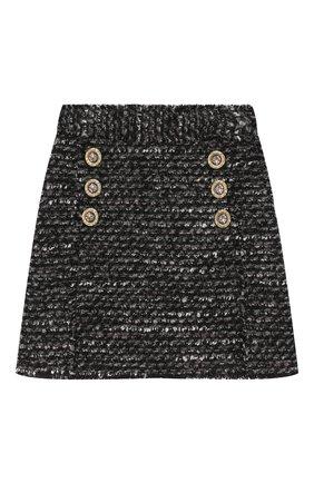 Детская твидовая юбка DOLCE & GABBANA серого цвета, арт. L53I41/HUMDX/8-14 | Фото 1