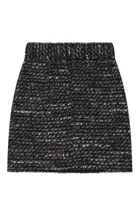 Детская твидовая юбка DOLCE & GABBANA серого цвета, арт. L53I41/HUMDX/8-14 | Фото 2