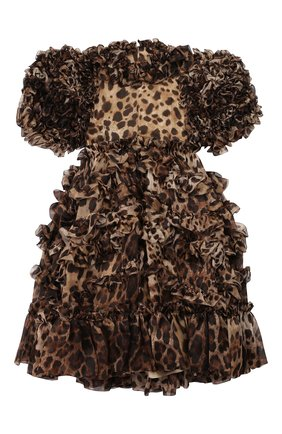 Детское шелковое платье DOLCE & GABBANA коричневого цвета, арт. L51DS8/HS15L/8-14 | Фото 2